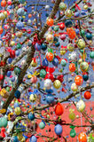 A lot easter eggs on the tree Royalty Free Stock Photo