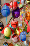 A lot easter eggs on the tree Royalty Free Stock Photos