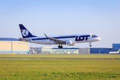 LOT Embraer ERJ-175 Stock Photography