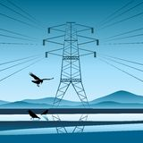 lot energii elektrycznej Fotografia Stock
