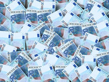 A lot of Euro. A lot of real Euro Royalty Free Stock Photos