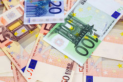 A lot of euro banknotes Stock Photography