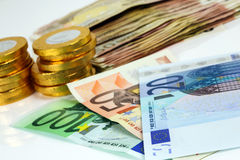 A lot of euro banknotes Royalty Free Stock Photography