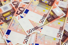 A lot of euro banknotes Stock Images