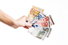 A lot of euro money. A lot of euro banknote Royalty Free Stock Photography
