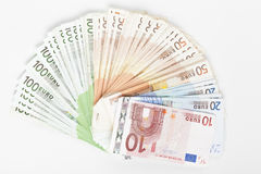 Lot of Euros Royalty Free Stock Photos