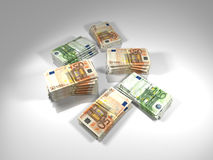 A lot of euros on white Stock Images