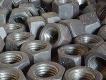 Lot of female screws Stock Photo