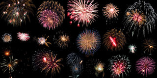 Lot of fireworks Royalty Free Stock Image