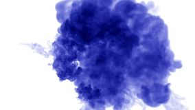 A lot of flows of isolated blue ink injects. Blue dye drop in water , shot in slow motion. Use for inky background or. Backdrop with smoke or ink effects, alpha stock footage