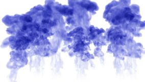 A lot of flows of isolated blue ink injects. Blue paint spread in water , shot in slow motion. Use for inky background. Or backdrop with smoke or ink effects stock video