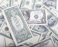 Lot fo americans dollars cash background, diverse money worldwide Royalty Free Stock Image