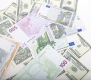Lot fo americans dollars cash background, diverse money worldwide Royalty Free Stock Images
