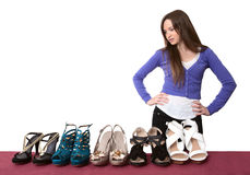 It is a lot of footwear Stock Image