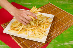A lot of french fries Stock Photo