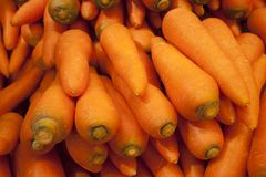 Fresh Carrot on supermarket royalty free stock image