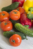 A lot of fresh different vegetables on the table. Royalty Free Stock Photography