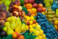 A lot of fresh fruits for sale Royalty Free Stock Image
