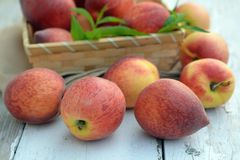 Lot of fresh peach Stock Photo