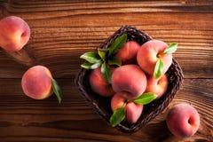 Lot of fresh peach Royalty Free Stock Photos