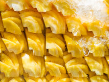 Lot of fresh prepared pineapple Royalty Free Stock Images