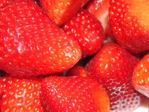 Some fresh strawberries. A lot of fresh red strawberries stock photo