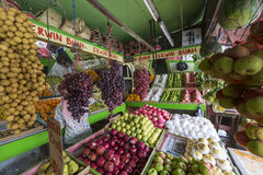 A lot of fresh, tropical fruits, at a market, bazaar in Yogjakar Stock Image