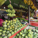 A lot of fresh, tropical fruits, at a market, bazaar in Yogjakar Royalty Free Stock Photo