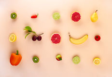 Lot of fruits and vegetables Stock Photo