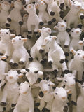 A lot of funny goats as symbol of new 2015 year. Royalty Free Stock Photos