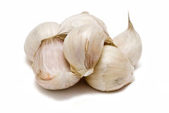 A lot of garlic. Royalty Free Stock Images