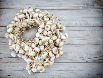 A lot of garlic bound together Stock Photography