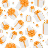 A lot of gift box fall down Royalty Free Stock Photography