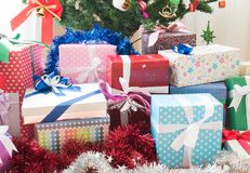 A lot of gift box. For christmas and new year Royalty Free Stock Photos