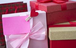 A lot of gift packages. Many of the gift packages on the occasion Stock Photo