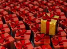 It is a lot of gifts. From red and gold royalty free illustration