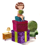 Lot of gifts Stock Image