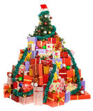 Lot of gifts are lying under Christmas tree Stock Photography