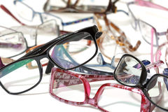 A lot of glasses Stock Images