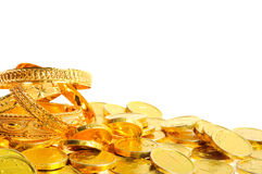 Lot of  gold coins Royalty Free Stock Photo
