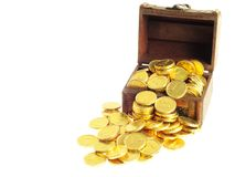 Lot of  gold coins Stock Images
