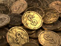 Lot of gold coins stock illustration