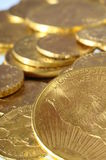 Lot of Gold coins for saving Stock Photos