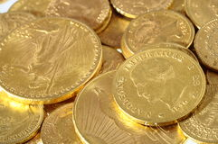 Lot of Gold coins for saving Royalty Free Stock Images