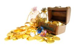 Lot of gold royalty free stock image