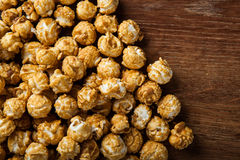 A lot of golden caramel corn background Royalty Free Stock Photos