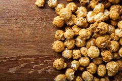 A lot of golden caramel corn background Stock Images
