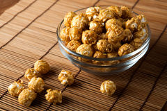 A lot of golden caramel corn Royalty Free Stock Images