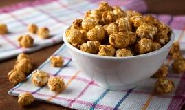 A lot of golden caramel corn. Close up Stock Image