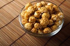 A lot of golden caramel corn. Close up Stock Images